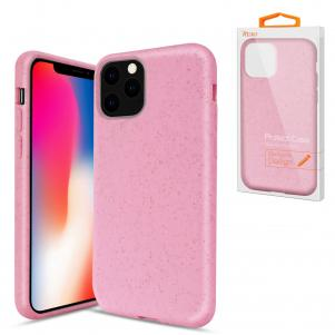 Reiko APPLE IPHONE 11 PRO MAX Wheat Bran Material Silicone Phone Case In Pink