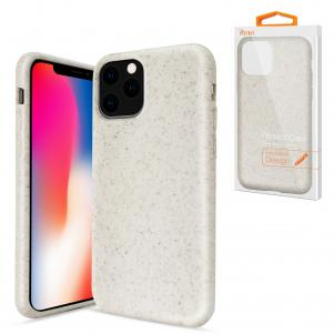 Reiko APPLE IPHONE 11 PRO MAX Wheat Bran Material Silicone Phone Case In White