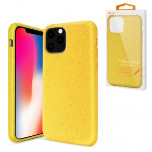 Reiko APPLE IPHONE 11 PRO MAX Wheat Bran Material Silicone Phone Case In Yellow
