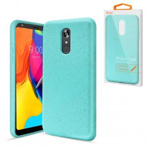 Reiko LG STYLO 5 Wheat Bran Material Silicone Phone Case In Blue