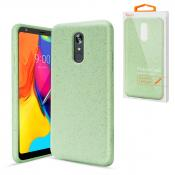 Reiko LG STYLO 5 Wheat Bran Material Silicone Phone Case In Green