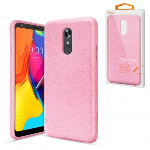 Reiko LG STYLO 5 Wheat Bran Material Silicone Phone Case In Pink
