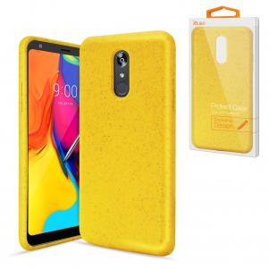 Reiko LG STYLO 5 Wheat Bran Material Silicone Phone Case In Yellow
