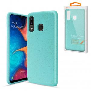 Reiko SAMSUNG GALAXY A20 Wheat Bran Material Silicone Phone Case In Blue