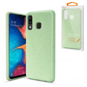 Reiko SAMSUNG GALAXY A20 Wheat Bran Material Silicone Phone Case In Green