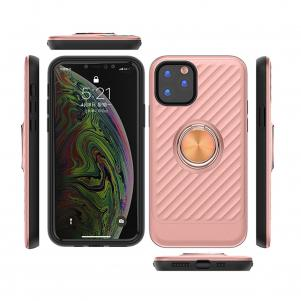 APPLE IPHONE 11 PRO MAX Case with Ring Holder In Rose Gold