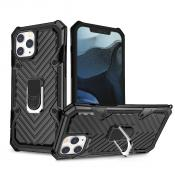 IPHONE 12/ IPHONE 12 PRO Kickstand Anti-Shock And Anti Falling Case In Black