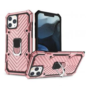 IPHONE 12/ IPHONE 12 PRO Kickstand Anti-Shock And Anti Falling Case In Rose Gold