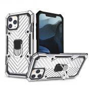 IPHONE 12/ IPHONE 12 PRO Kickstand Anti-Shock And Anti Falling Case In Silver