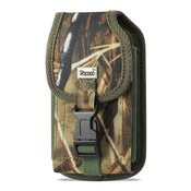 Reiko Vertical Rugged Pouch Built In Buckle Clip In Camouflage (6.6X3.5X0.7 Inches)