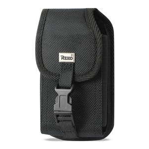 Reiko Vertical Rugged Pouch Built In Buckle Clip In Black (7.0X3.9X0.7 Inches)