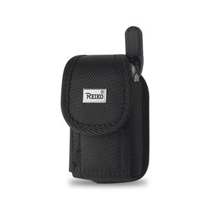 Reiko Vertical Rugged Pouch With Buckle Clip In Black (3.5X2.1X1.1 Inches)