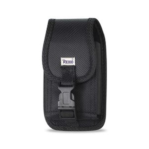 Reiko Vertical Rugged Pouch With Buckle Clip In Black (5.2X3.0X0.8 Inches)
