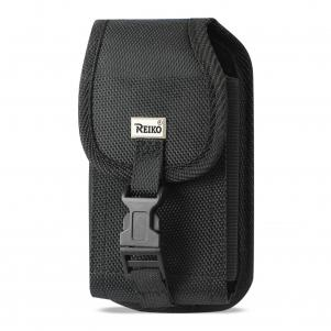 Reiko Vertical Rugged Pouch With Buckle Clip In Black (5.8X3.2X0.7 Inches)