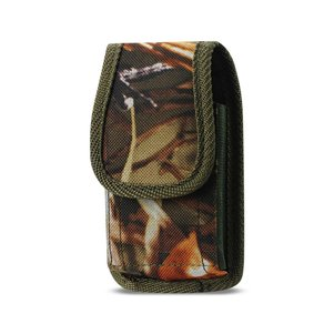 REIKO VERTICAL RUGGED MEDIAN SIZE POUCH WITH BUCKLE CLIP IN CAMOUFLAGE (3.5X2.05X1.1 INCHES)