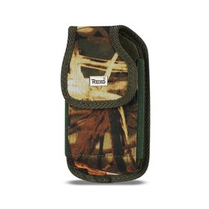 Reiko Vertical Rugged Pouch With Buckle Clip In Camouflage (4.4X2.3X0.9 Inches)