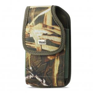 Reiko Vertical Rugged Pouch With Metal Belt Clip In Camouflage (3.5X2.1X1.1 Inches)