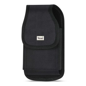 Reiko Vertical Rugged Pouch With Metal Belt Clip In Black (6.0X3.3X0.7 Inches)