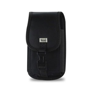 Reiko Vertical Rugged Pouch With Metal Belt Clip In Black (6.3X3.6X0.8 Inches)