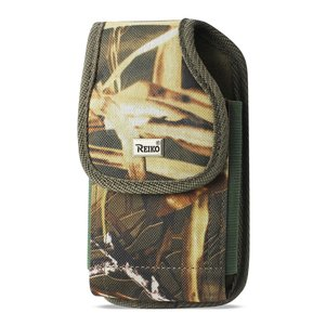 Reiko Vertical Rugged Pouch With Metal Belt Clip In Camouflage (7.0X3.9X0.7 Inches)