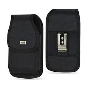 Reiko Vertical Rugged Pouch With Metal Belt Clip In Black (5.8X3.2X0.7 Inches)