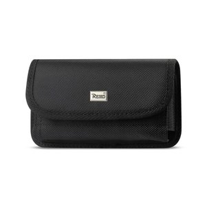 Reiko Horizontal Rugged Pouch With Velcro In Black