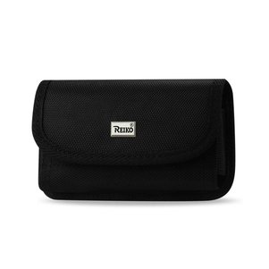 Reiko Horizontal Rugged Pouch With Velcro In Black (6.0X3.3X0.7 Inches)