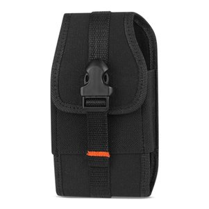 Reiko Vertical Rugged Pouch With Velcro And Metal Belt Clip In Black (5.8X3.0X0.7 Inches)