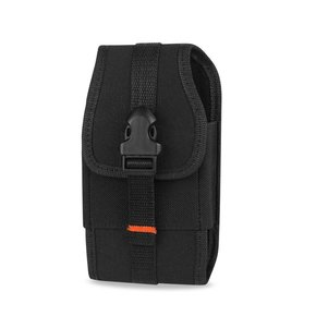 Reiko Vertical Rugged Pouch With Velcro And  Belt Clip In Black (4.4X2.3X0.9 Inches)