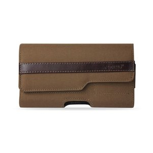 HORIZONTA RUGGED POUCH IPHONE 6 PLUS/ 6S PLUS 5.5INCH PLUS-BROWN WITH Z LID PATTERN INNER SIZE: 6.62X3.46X0.68INCH