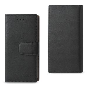 REIKO IPHONE 6/ 6S SYNTHETIC BULLHIDE LEATHER WALLET CASE WITH RFID CARD PROTECTION IN BLACK