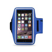 REIKO RUNNING ARMBAND WITH TOUCH SCREEN CASE 6X3X0.75 INCHES IN NAVY