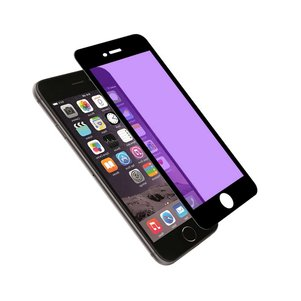 REIKO IPHONE 6 PLUS ANTI BLUE LIGHT FILTER TEMPERED GLASS SCREEN PROTECTOR IN BLACK