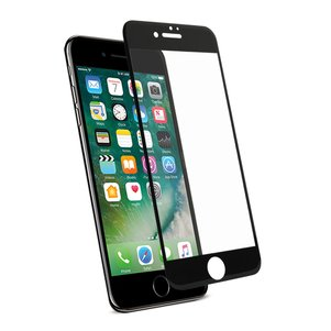 REIKO IPHONE 7 PLUS 3D CURVED FULL COVERAGE TEMPERED GLASS SCREEN PROTECTOR IN BLACK