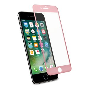 REIKO IPHONE 7 PLUS 3D CURVED FULL COVERAGE TEMPERED GLASS SCREEN PROTECTOR IN ROSE GOLD