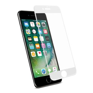 REIKO IPHONE 7 PLUS 3D CURVED FULL COVERAGE TEMPERED GLASS SCREEN PROTECTOR IN WHITE