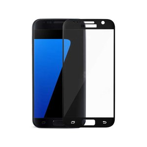 REIKO SAMSUNG GALAXY S7 3D CURVED FULL COVERAGE TEMPERED GLASS SCREEN PROTECTOR IN BLACK