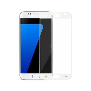 REIKO SAMSUNG GALAXY S7 3D CURVED FULL COVERAGE TEMPERED GLASS SCREEN PROTECTOR IN WHITE