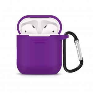 Reiko Silicone Case for Airpods in Purple