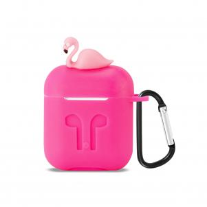 Reiko Silicone Case for Airpods in Hot Pink
