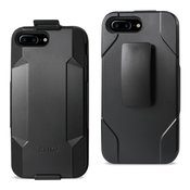 REIKO IPHONE 7 PLUS 3-IN-1 HYBRID HEAVY DUTY HOLSTER COMBO CASE IN BLACK