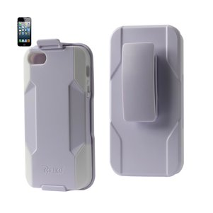 REIKO IPHONE 5/5S/SE 3-IN-1 HYBRID HEAVY DUTY HOLSTER COMBO CASE IN WHITE