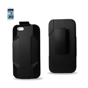 REIKO IPHONE 6/ 6S/ 7 3-IN-1 HYBRID HEAVY DUTY HOLSTER COMBO CASE IN BLACK