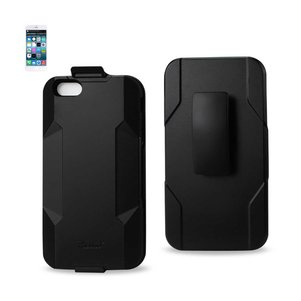 REIKO IPHONE 6 PLUS 3-IN-1 HYBRID HEAVY DUTY HOLSTER COMBO CASE IN BLACK