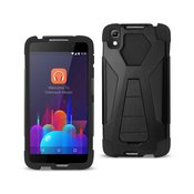REIKO ALCATEL IDOL 4 HYBRID HEAVY DUTY CASE WITH KICKSTAND IN BLACK
