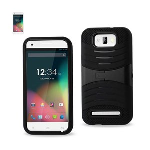 REIKO BLU STUDIO 5.5 HYBRID HEAVY DUTY ANTI SLIP CASE WITH KICKSTAND IN BLACK