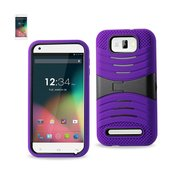 REIKO BLU STUDIO 5.5 HYBRID HEAVY DUTY ANTI SLIP CASE WITH KICKSTAND IN PURPLE BLACK
