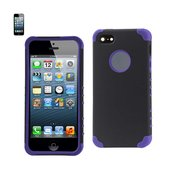 REIKO IPHONE 5/5S/SE HYBRID HEAVY DUTY CASE IN BLACK PURPLE