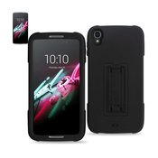 REIKO ALCATEL ONE TOUCH IDOL 3 HYBRID HEAVY DUTY 3 PIECES CASE WITH KICKSTAND IN BLACK