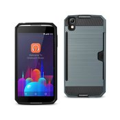 REIKO ALCATEL ONE TOUCH IDOL 4 SLIM ARMOR HYBRID CASE WITH CARD HOLDER IN NAVY